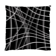 Black and white warped lines Standard Cushion Case (One Side)