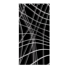 Black and white warped lines Shower Curtain 36  x 72  (Stall)