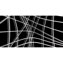 Black and white warped lines YOU ARE INVITED 3D Greeting Card (8x4)