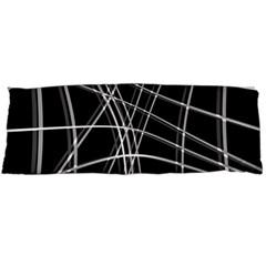 Black and white warped lines Body Pillow Case (Dakimakura)