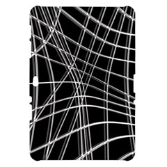 Black and white warped lines Samsung Galaxy Tab 10.1  P7500 Hardshell Case