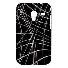 Black and white warped lines Samsung Galaxy Ace Plus S7500 Hardshell Case