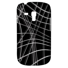 Black and white warped lines Samsung Galaxy S3 MINI I8190 Hardshell Case