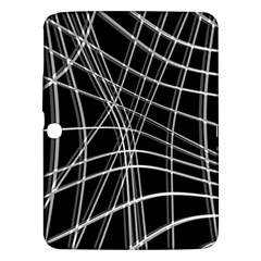 Black and white warped lines Samsung Galaxy Tab 3 (10.1 ) P5200 Hardshell Case