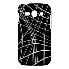 Black and white warped lines Samsung Galaxy Ace 3 S7272 Hardshell Case