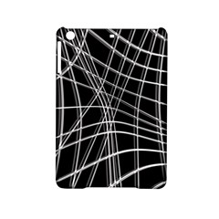 Black and white warped lines iPad Mini 2 Hardshell Cases