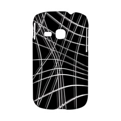 Black and white warped lines Samsung Galaxy S6310 Hardshell Case