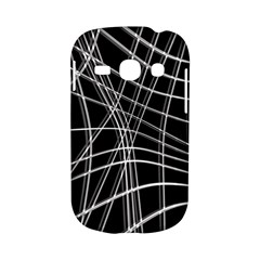 Black and white warped lines Samsung Galaxy S6810 Hardshell Case