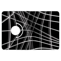 Black and white warped lines Kindle Fire HDX Flip 360 Case