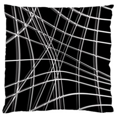 Black and white warped lines Standard Flano Cushion Case (Two Sides)