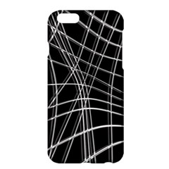 Black and white warped lines Apple iPhone 6 Plus/6S Plus Hardshell Case