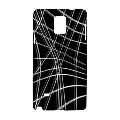 Black and white warped lines Samsung Galaxy Note 4 Hardshell Case