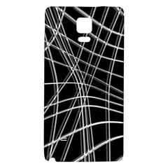 Black and white warped lines Galaxy Note 4 Back Case