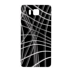 Black and white warped lines Samsung Galaxy Alpha Hardshell Back Case