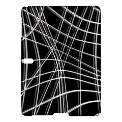 Black and white warped lines Samsung Galaxy Tab S (10.5 ) Hardshell Case