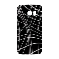 Black and white warped lines Galaxy S6 Edge