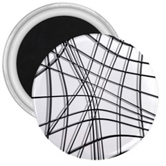 White and black warped lines 3  Magnets