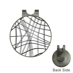 White and black warped lines Hat Clips with Golf Markers