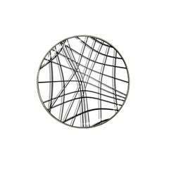 White and black warped lines Hat Clip Ball Marker