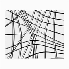White and black warped lines Small Glasses Cloth