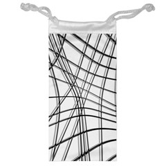 White and black warped lines Jewelry Bags