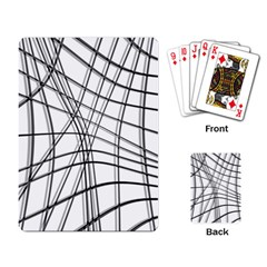 White and black warped lines Playing Card
