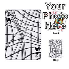 White and black warped lines Playing Cards 54 Designs