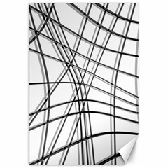 White and black warped lines Canvas 20  x 30
