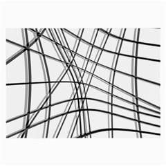 White and black warped lines Large Glasses Cloth (2-Side)