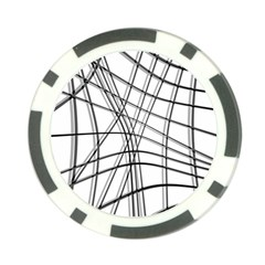 White and black warped lines Poker Chip Card Guards (10 pack)