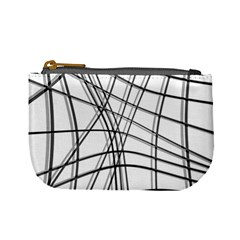 White and black warped lines Mini Coin Purses