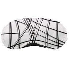 White and black warped lines Sleeping Masks