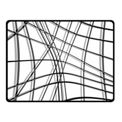 White and black warped lines Fleece Blanket (Small)