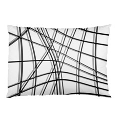 White and black warped lines Pillow Case (Two Sides)