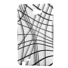 White and black warped lines Samsung Galaxy Note 1 Hardshell Case