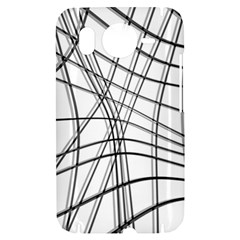 White and black warped lines HTC Desire HD Hardshell Case