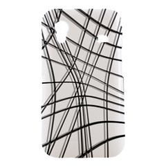 White and black warped lines Samsung Galaxy Ace S5830 Hardshell Case