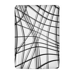 White and black warped lines Kindle 4