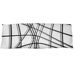 White and black warped lines Body Pillow Case Dakimakura (Two Sides)