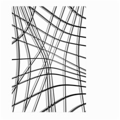 White and black warped lines Large Garden Flag (Two Sides)