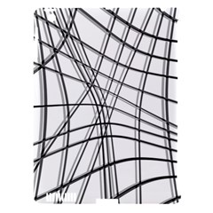 White and black warped lines Apple iPad 3/4 Hardshell Case (Compatible with Smart Cover)