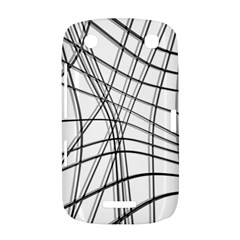 White and black warped lines BlackBerry Curve 9380
