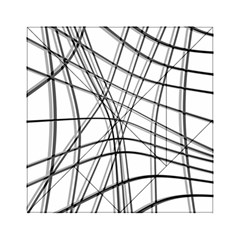 White and black warped lines Acrylic Tangram Puzzle (6  x 6 )