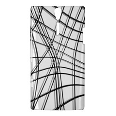 White and black warped lines Sony Xperia S