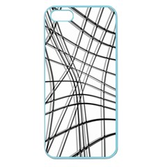 White and black warped lines Apple Seamless iPhone 5 Case (Color)