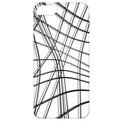 White and black warped lines Apple iPhone 5 Classic Hardshell Case