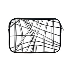 White and black warped lines Apple iPad Mini Zipper Cases