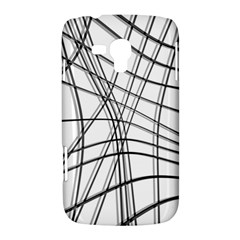 White and black warped lines Samsung Galaxy Duos I8262 Hardshell Case