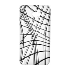 White and black warped lines HTC Butterfly S/HTC 9060 Hardshell Case