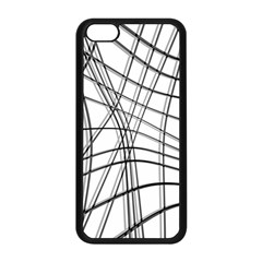 White and black warped lines Apple iPhone 5C Seamless Case (Black)